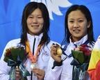 渡部が女子200m平泳ぎで念願の金メダル、アジア大会