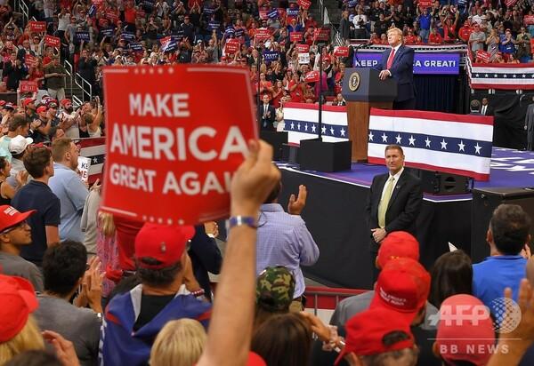 トランプ氏、2020年大統領選への立候補を正式表明 2万人が「USA、USA!」