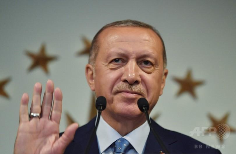 トルコ大統領選、エルドアン氏が勝利 議会選も与党連合が過半数か