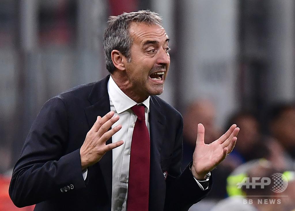 13位に沈むミランがジャンパオロ監督を解任、ピオリ氏招聘か