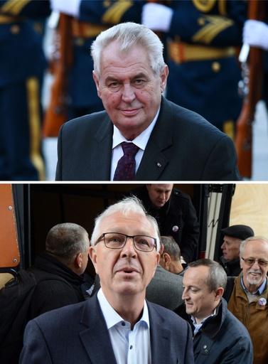 チェコ大統領選、親ロシア派現職と親EU派の学識経験者が決選投票へ
