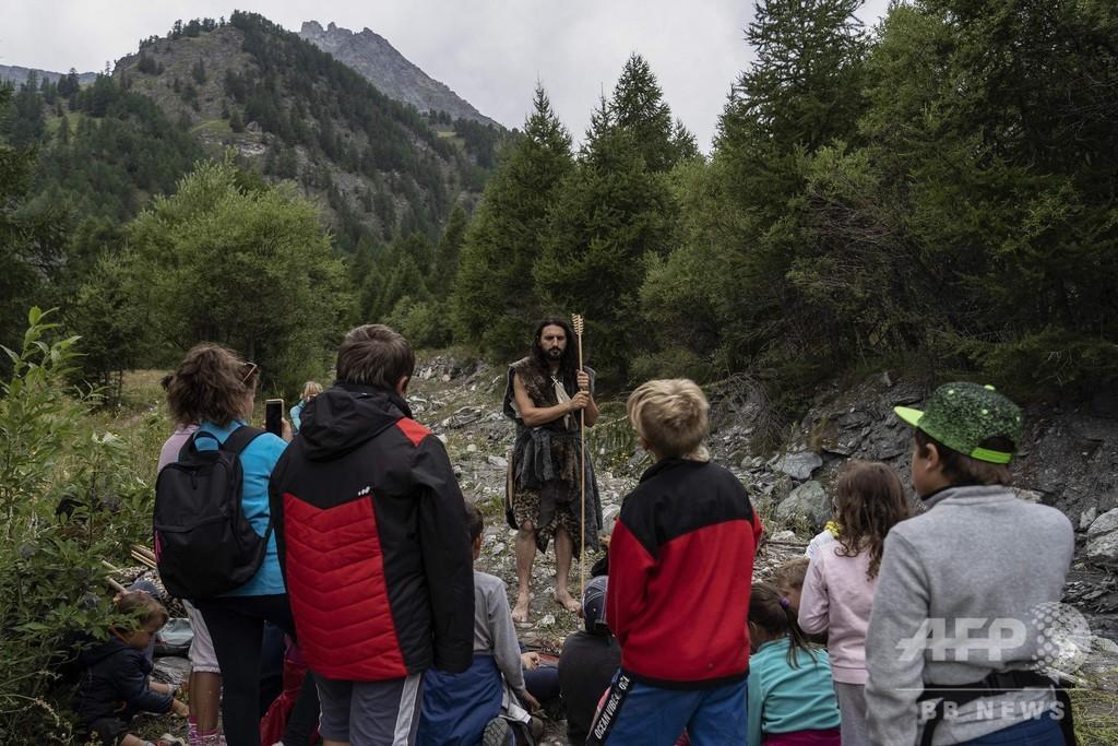 イタリア・アルプスで体験、「ネアンデルタール人のサバイバル・コース」