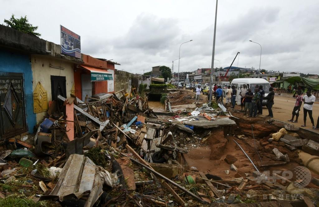コートジボワールの商都アビジャンで洪水、18人死亡