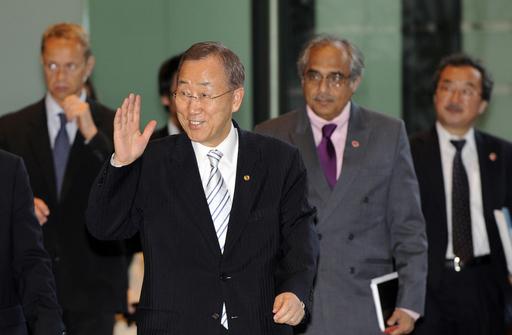 国連の潘事務総長、長崎を訪問 核廃絶を誓う