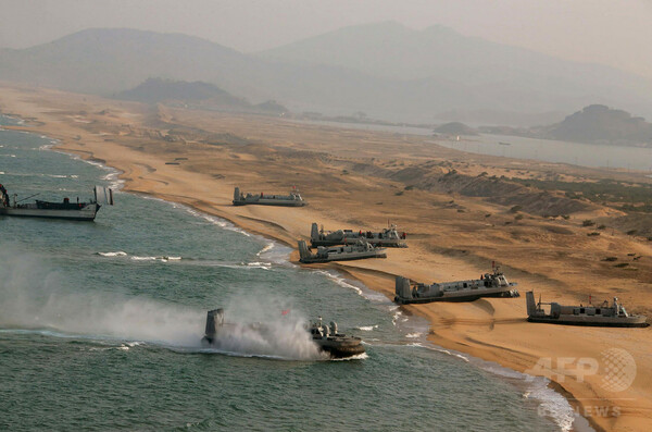北朝鮮が短距離ミサイル5発を発射、韓国軍