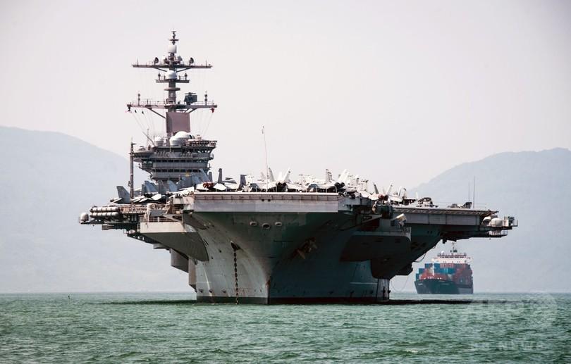 米空母がベトナム寄港、戦争終結後初 対中で関係強化