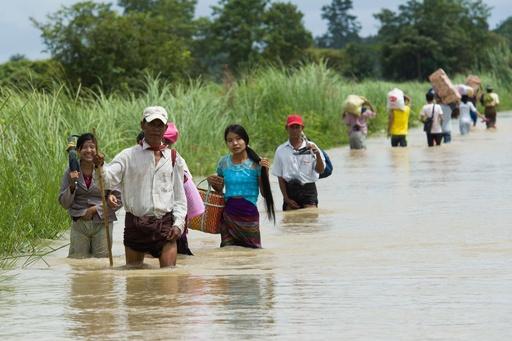 ミャンマーのダム決壊、4人死亡 3人行方不明