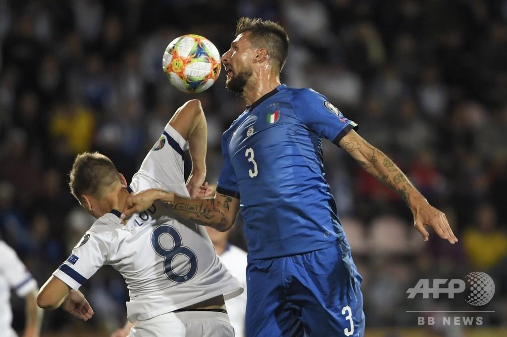 イタリアがフィンランドに競り勝ち6連勝、欧州選手権出場に王手