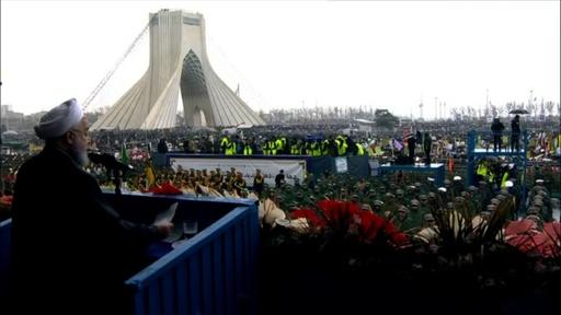 動画:イスラム革命から40年、イラン大統領が米国の「陰謀」を非難