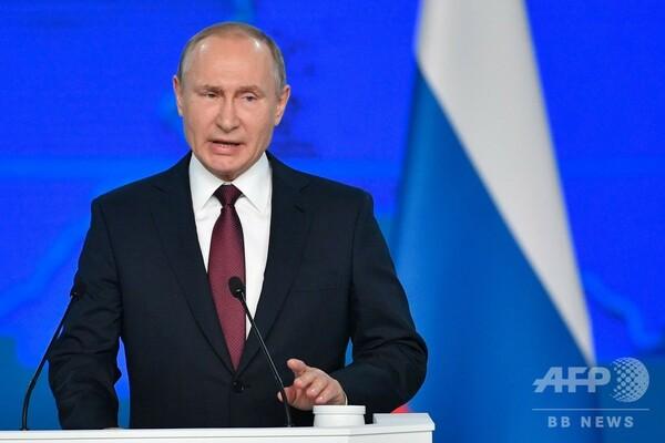 プーチン大統領、早急な生活改善を約束 年次教書演説