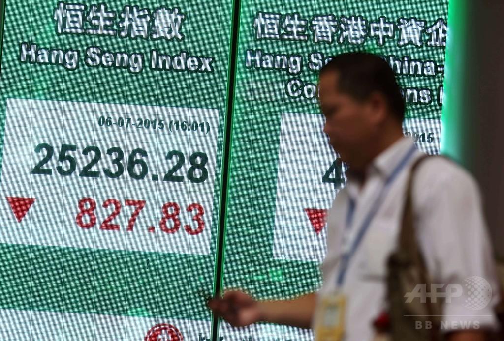 中国警察と証券監督当局、「悪質な空売り」で捜査開始