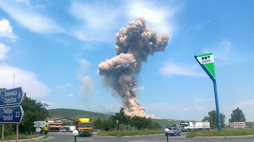 ブルガリア東部で弾薬庫が爆発、6人負傷