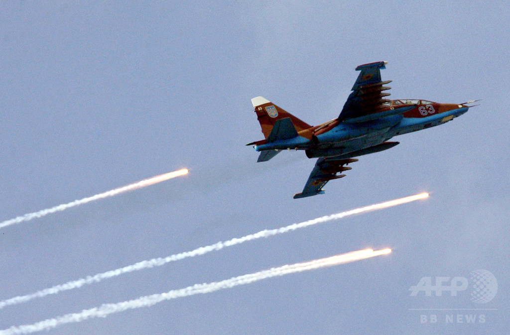 ウクライナ東部で戦闘機2機撃墜、政府軍「ロシアからミサイル」 写真1 ...