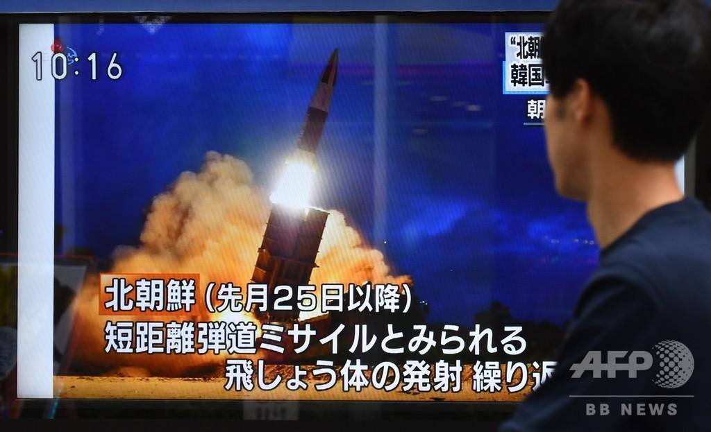 北朝鮮、飛翔体2発を日本海に発射 文氏を「まれに見る恥知らず」と非難