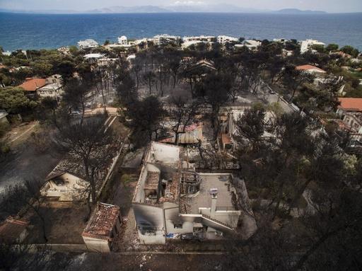生きたまま焼かれた…ギリシャ山火事、死者81人に 新婚旅行の外国人も