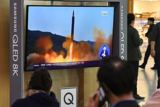 北朝鮮、飛翔体2発を発射 韓国軍発表