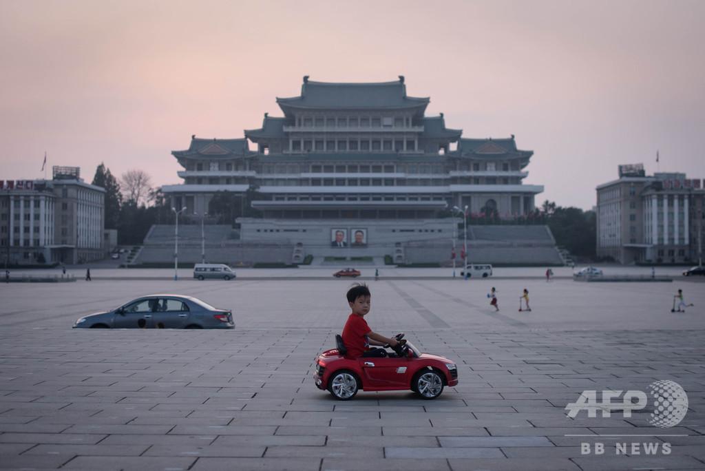 【今日の1枚】のどかな夕暮れ、建国記念日の北朝鮮