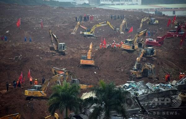 中国の土砂崩れ、不明者91人に ガス爆発も発生