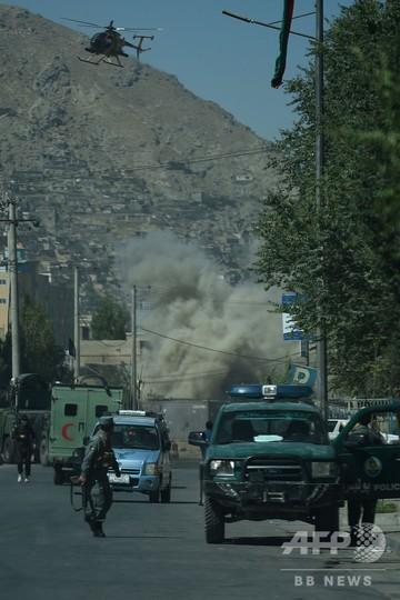 アフガン大統領府近くに攻撃、治安部隊と激しい戦闘 ISが犯行声明