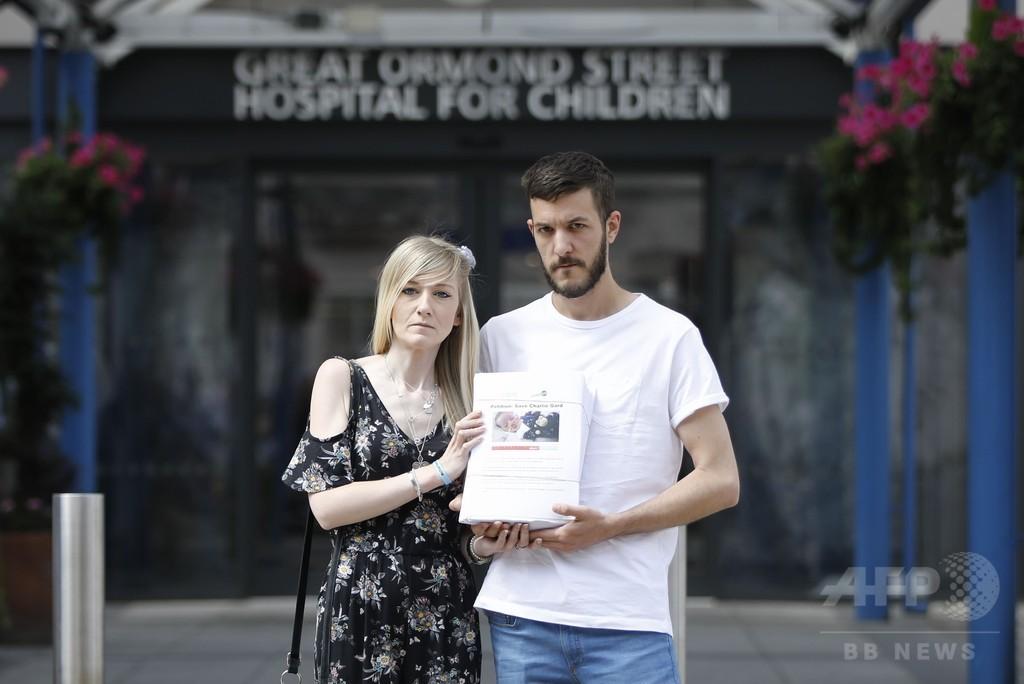 遺伝子疾患の乳児に渡米許可を、治療継続求め35万人が署名 英
