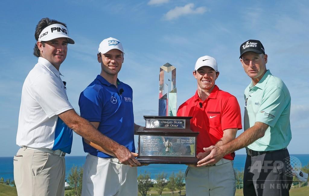 PGAグランドスラム開幕、ケイマーが初日首位に