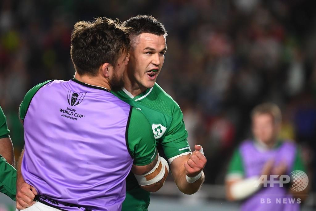 14人のアイルランド、サモア圧倒しラグビーW杯8強入り