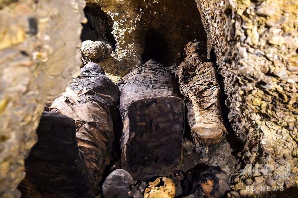 エジプト遺跡でミイラ40体超を公開、約2000年前のものか