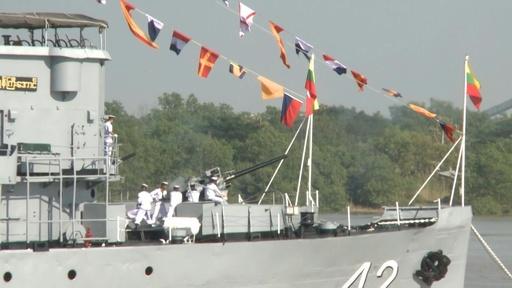 動画:ミャンマー海軍、創立72周年の記念式典を実施