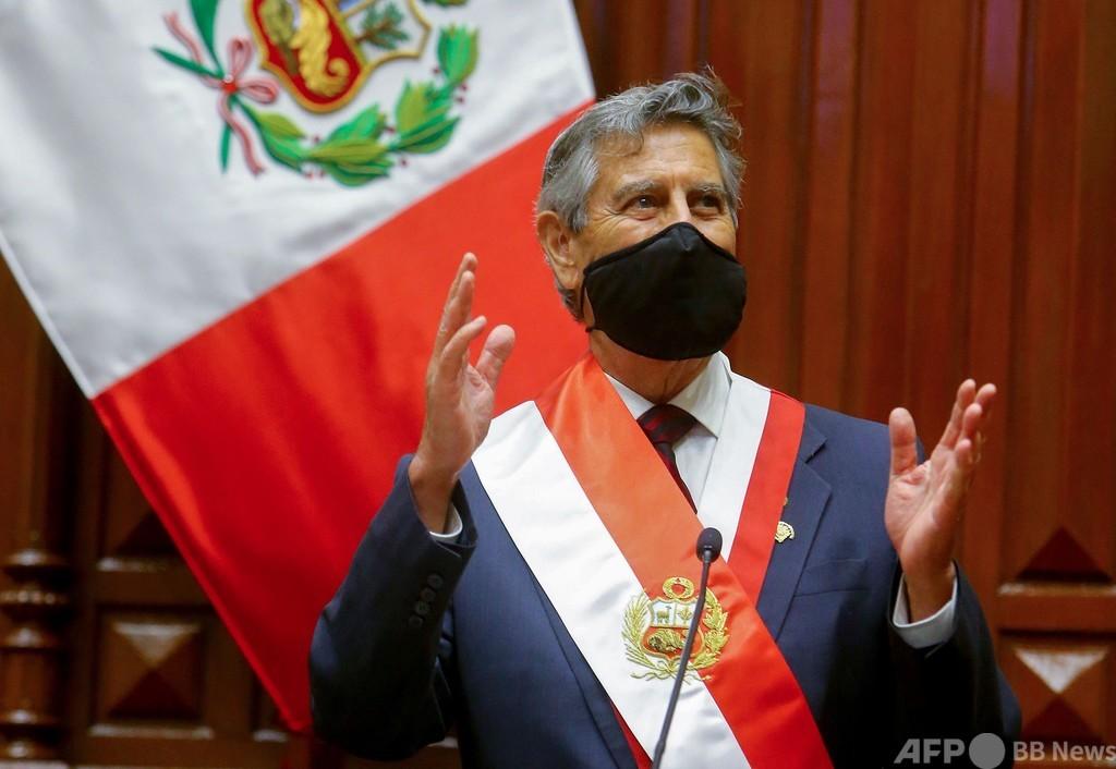 ペルー新大統領にサガスティ氏就任