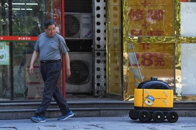 ロボットが日用品を家まで宅配、中国・北京