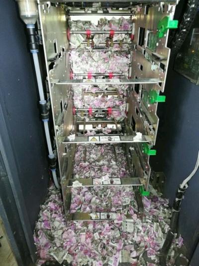 「ATM強盗犯」はネズミ、200万円近い紙幣かじられボロボロに