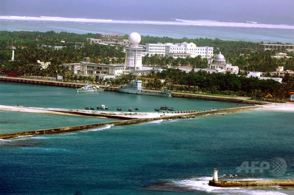 中国、南シナ海の永興島に定期便を運航