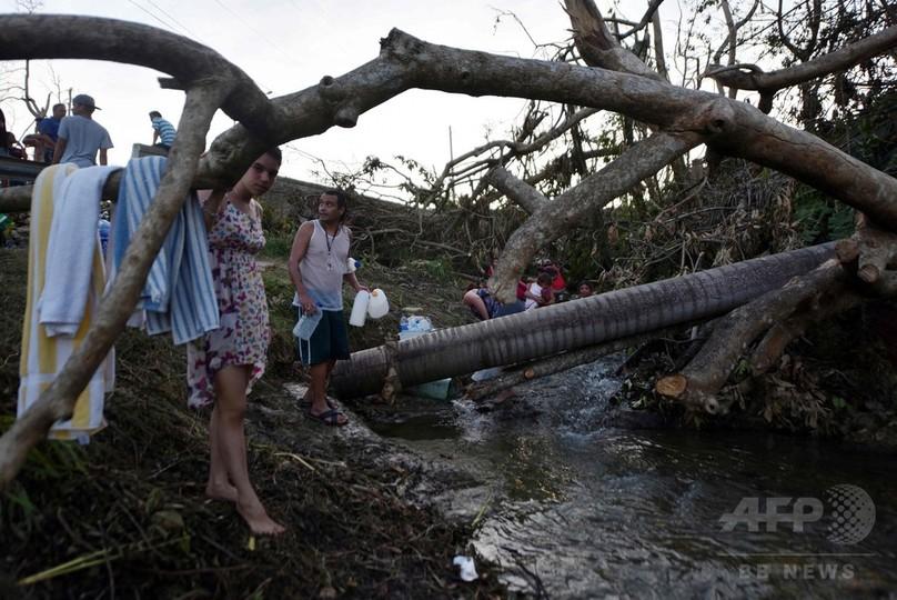 ハリケーン直撃のプエルトリコに人道危機の恐れ、知事が迅速な支援訴え
