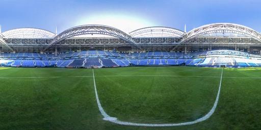【360°パノラマ写真】ロシアW杯の会場、サンクトペテルブルク・アリーナ