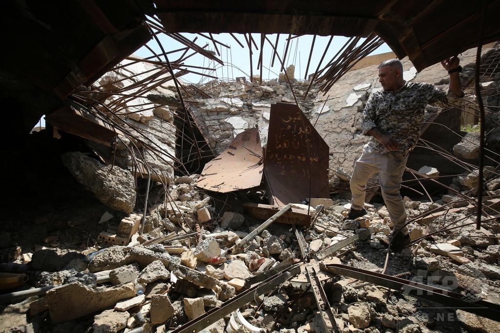フセイン元イラク大統領の遺体はどこに? がれきと化した霊廟で深まる謎