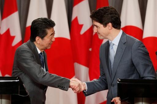 日加首相、米国抜きの新TPPを称賛 「市場に恩恵」