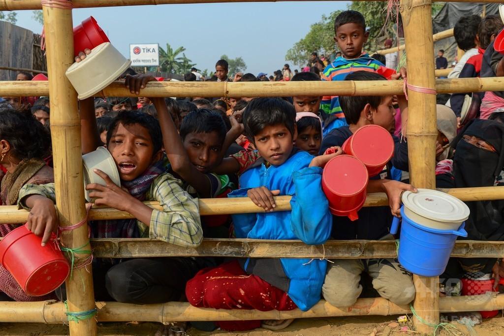 ロヒンギャ難民、登録者数100万人突破 バングラ軍発表