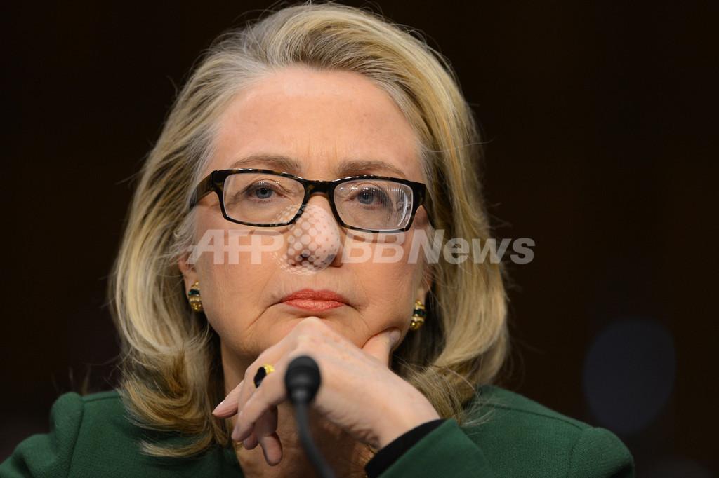 クリントン長官、「オタク眼鏡」で流行に乗る?