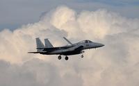 航空自衛隊千歳基地のF15J戦闘機「イーグル」
