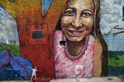 ゲリラ戦闘地のイメージを払拭、平和を祈る壁画フェス初開催 コロンビア