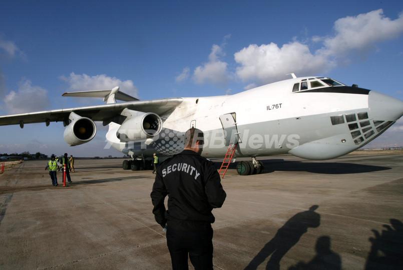 国連がシリアに支援物資を初空輸