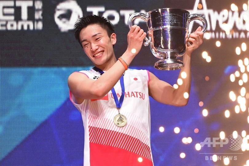 桃田が全英OP制覇「子どもの頃から夢だった」、日本男子単で初