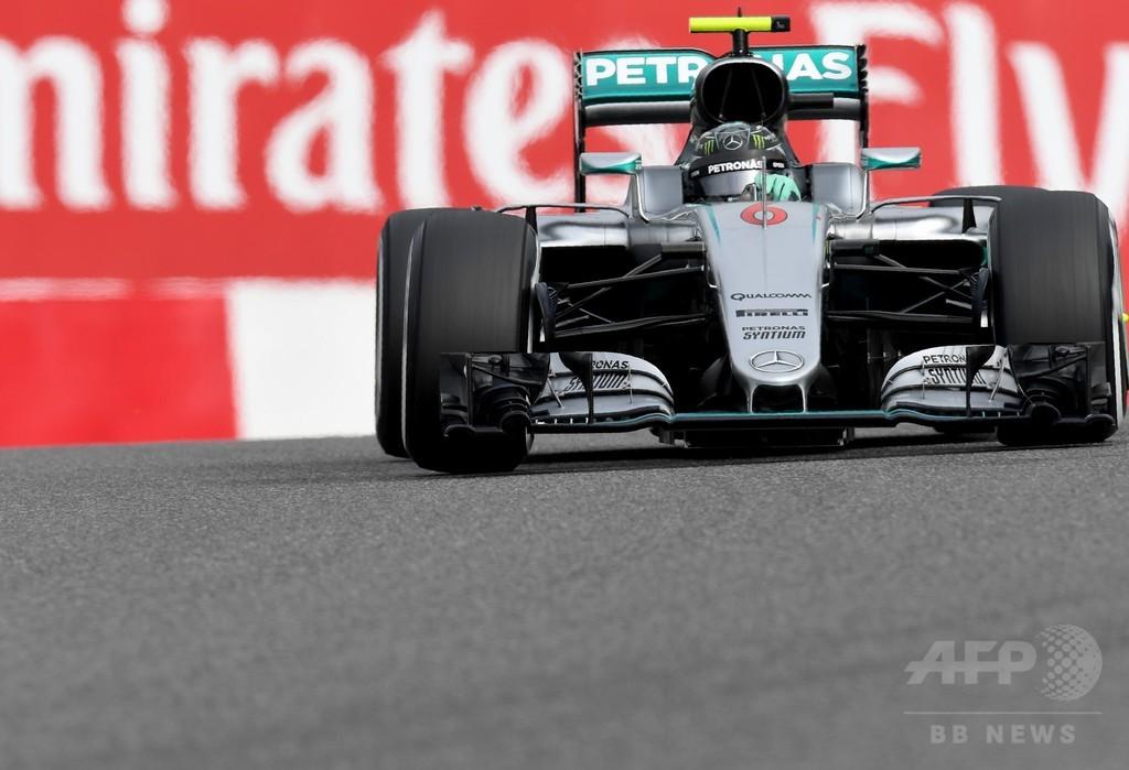 ロズベルグがハミルトン抑えポールポジション獲得、日本GP