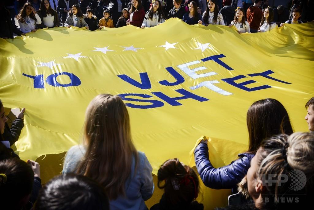 コソボ、独立宣言から10年 首都は祝典ムード