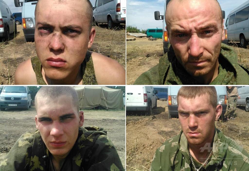 ウクライナ、拘束した「ロシア兵」の映像公開