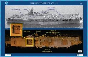 第2次大戦時代の米空母、太平洋の海底で発見 「驚くほど無傷」