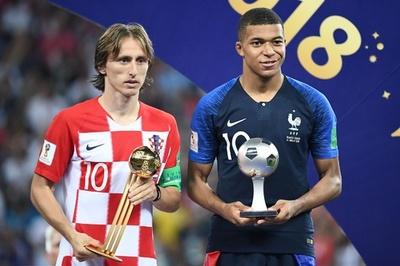 クロアチアのモドリッチが大会MVP、最優秀若手はフランスのエムバペ