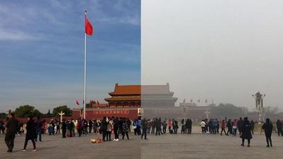 動画:北京を襲う大気汚染、ビフォーアフター映像