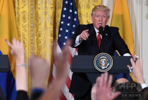 トランプ大統領、報道ニュース出ずっぱりもほぼ否定的内容 調査