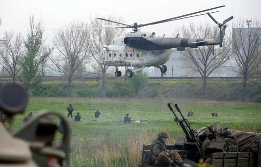 ウクライナ軍が東部で奪還作戦、ヘリ2機撃墜される